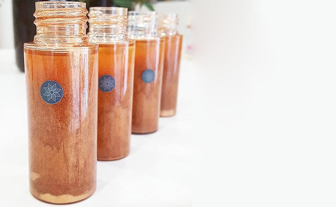 Recette huile pailletée pour le corps