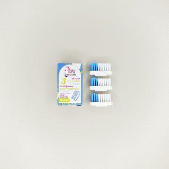 Lot de 3 têtes pour brosses à dents rechargeables - Médium