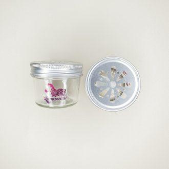 Pot en verre pour cosmétiques solides
