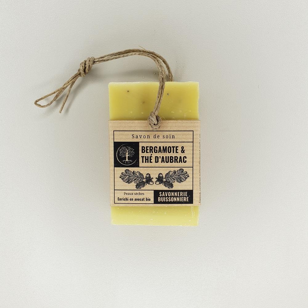 savon surgras à froid bergamote thé d'aubrac 100 grammes