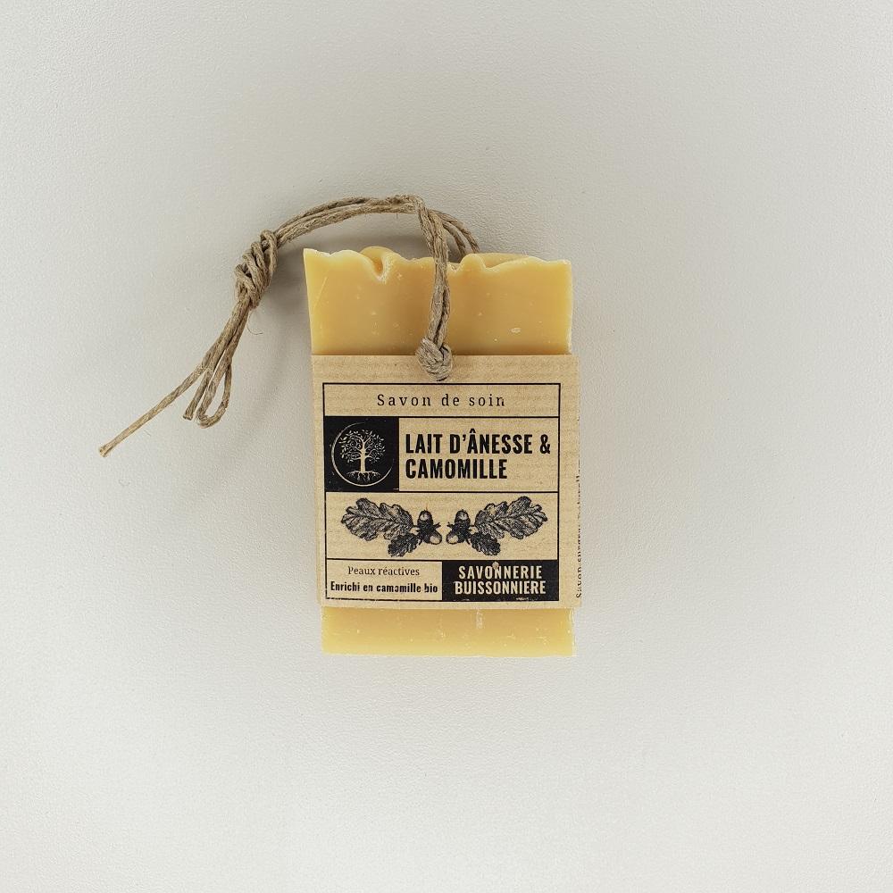 savon surgras à froid lait d'ânesse camomille de la savonnerie buissonnière