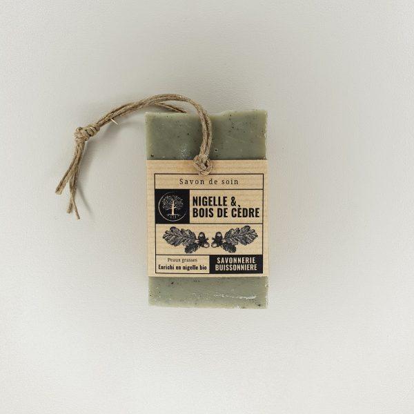 savon surgras nigelle cèdre de la Savonnerie Buissonnière