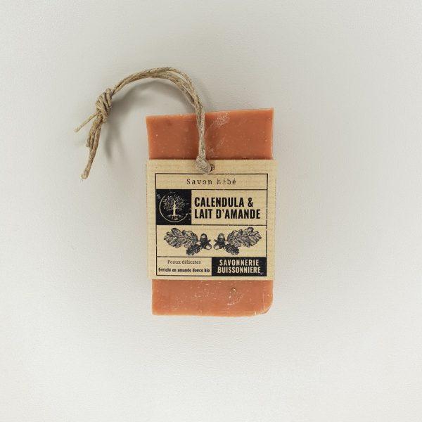 savon surgras à froid calendula amande douce de la Savonnerie Buissonnière 100 grammes