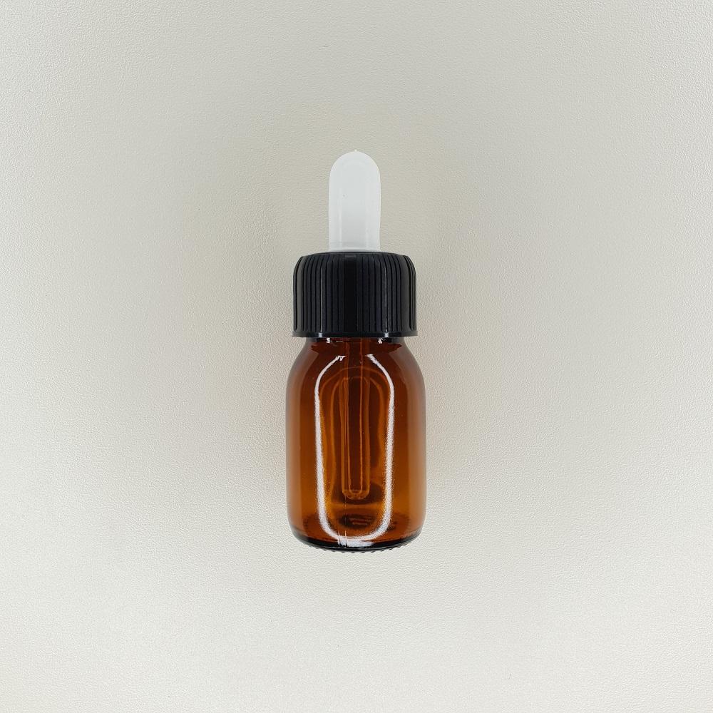 Flacon compte goutte en verre ambré de 30 ml