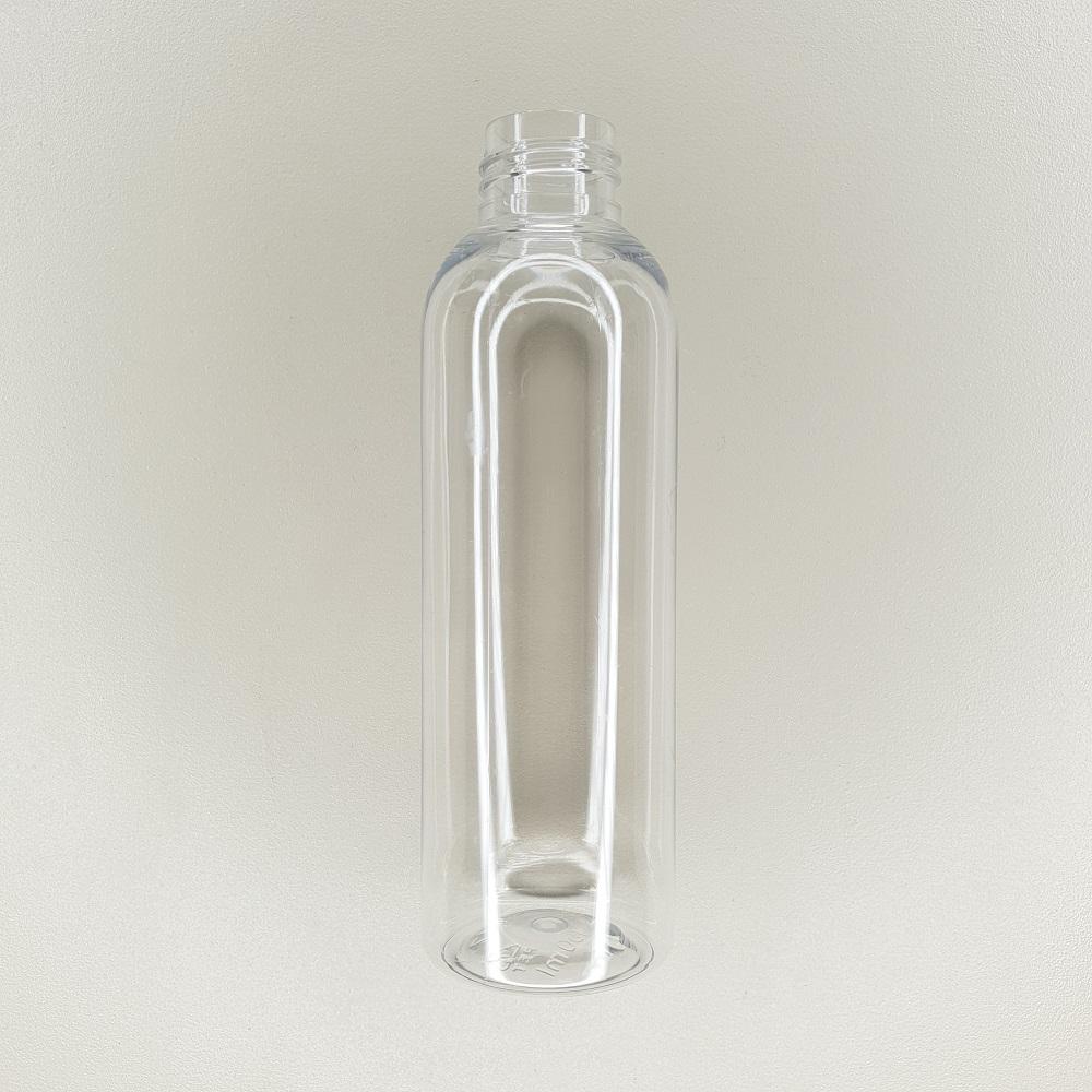 Flacon en plastique transparent de contenance 150 ml
