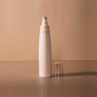 Set flacon plastique blanc 200 ml + pompe crème