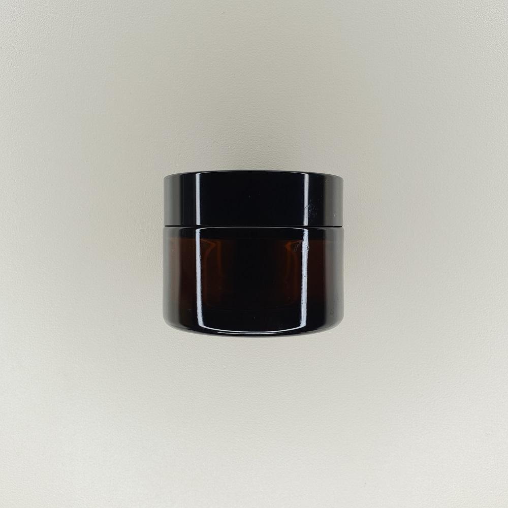 Pot en verre ambré de 50 ml