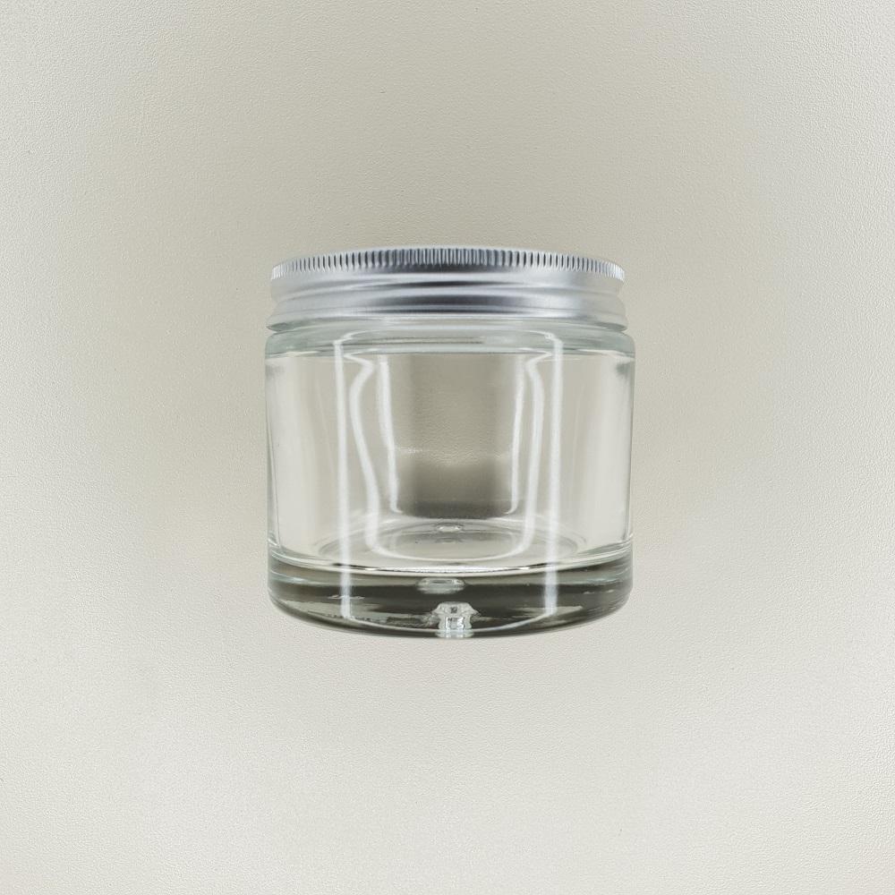 pot en verre couvercle aluminium contenance 125 ml