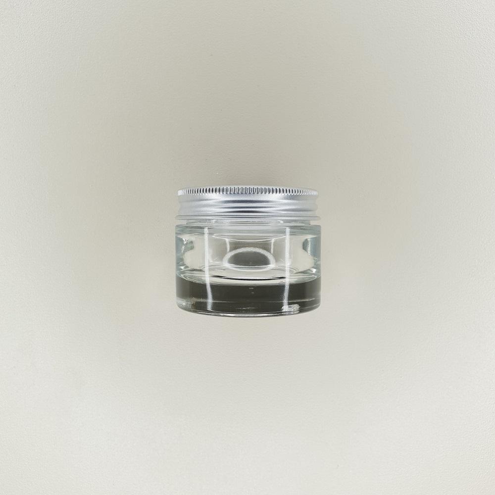 pot en verre couvercle aluminium contenance 30 ml