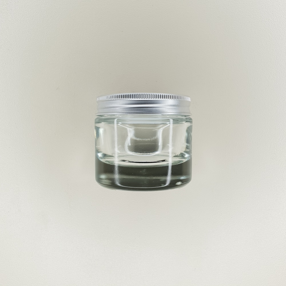 pot en verre couvercle aluminium contenance 50 ml