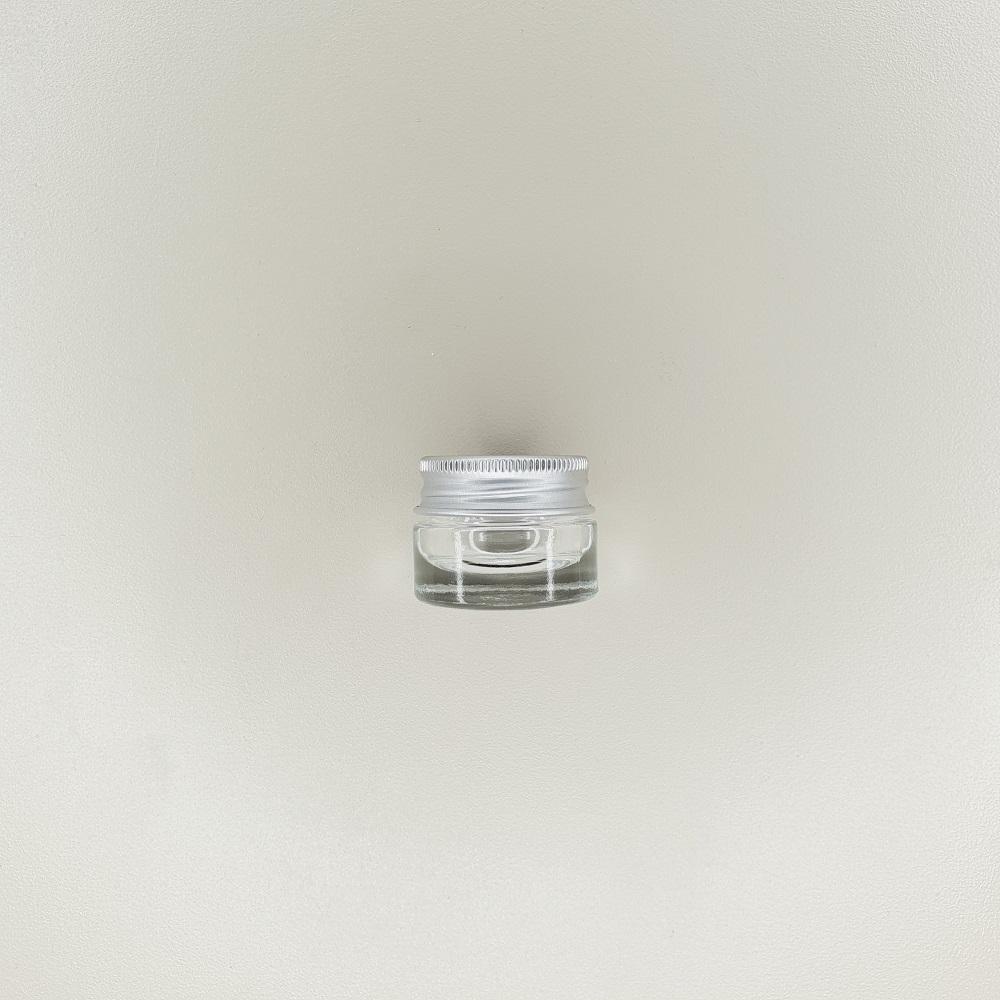 pot en verre couvercle aluminium contenance 7ml