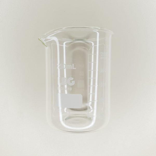 bécher en verre cosmétique contenance 250 ml