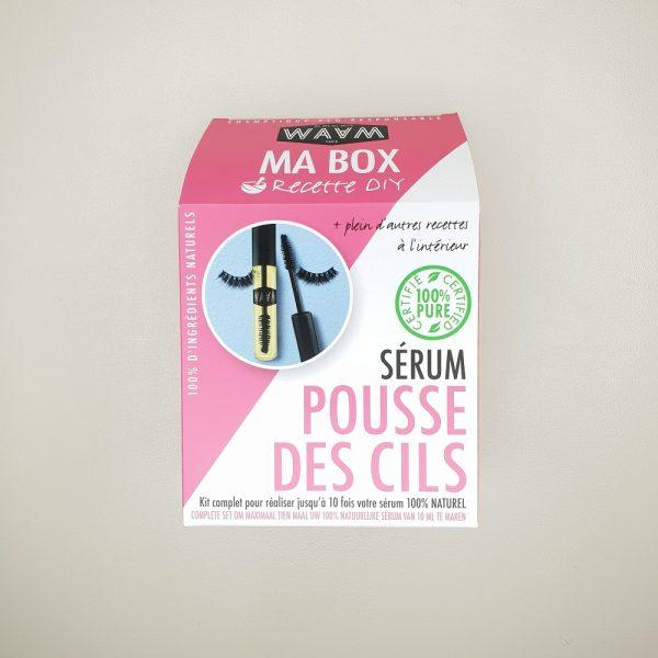 kit diy ma box sérum pousse des cils Waam cosmétique maison