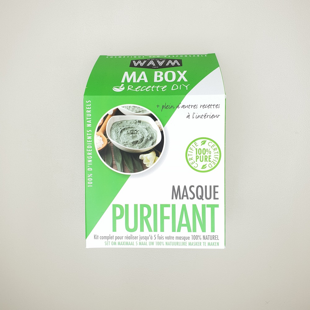 Kit ma box DIY Masque purifiant visage maison waam