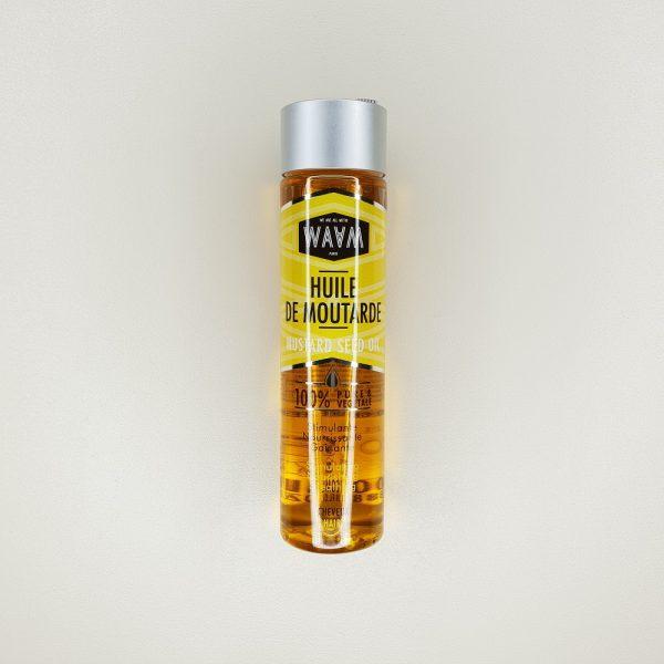 huile végétale de moutarde cheveux Waam