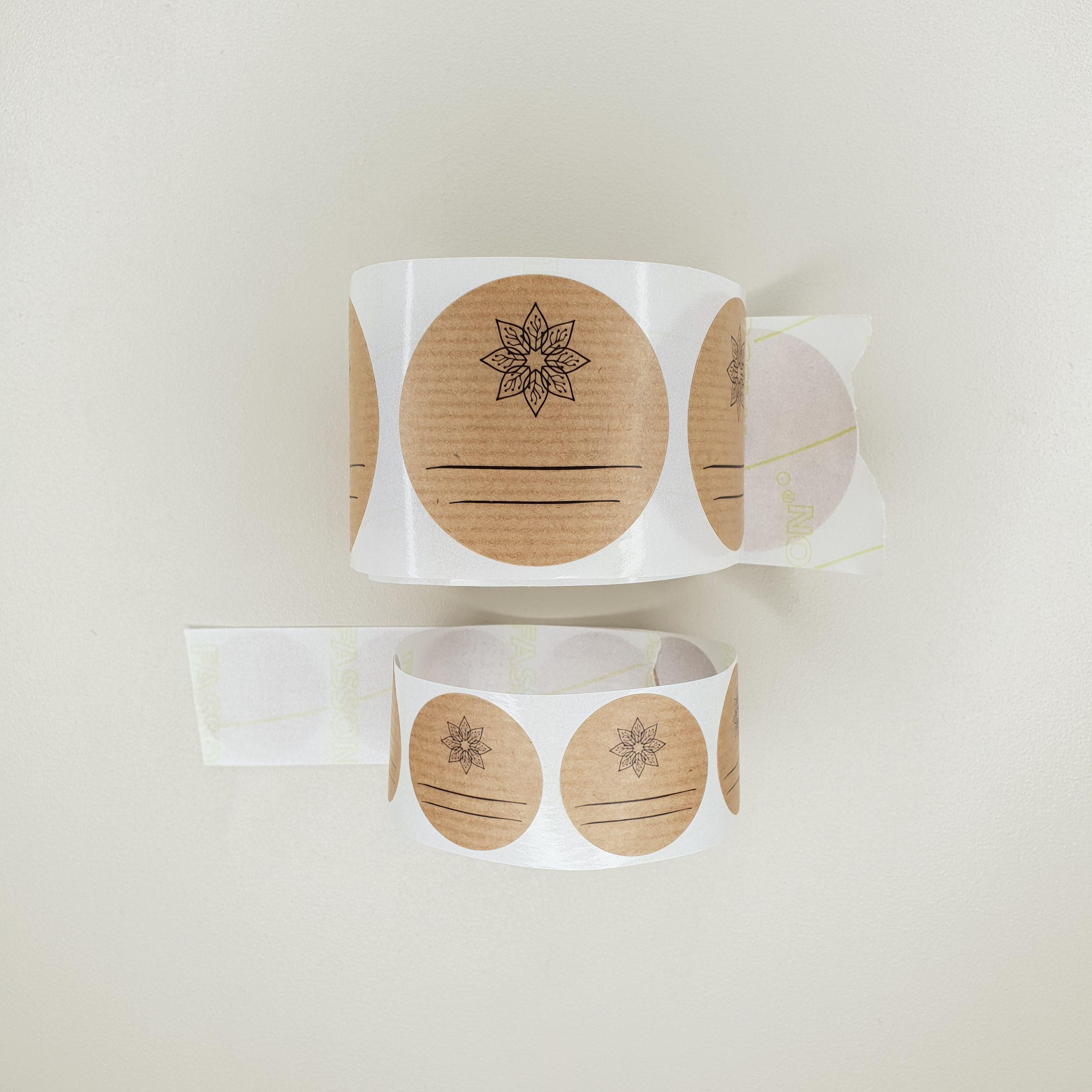 étiquettes 3 et 10 cm mademoiselle biloba