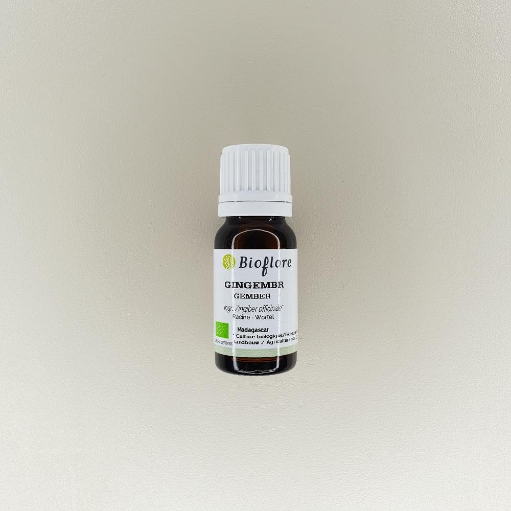 huile essentielle de gingembre bio 10 ml Bioflore