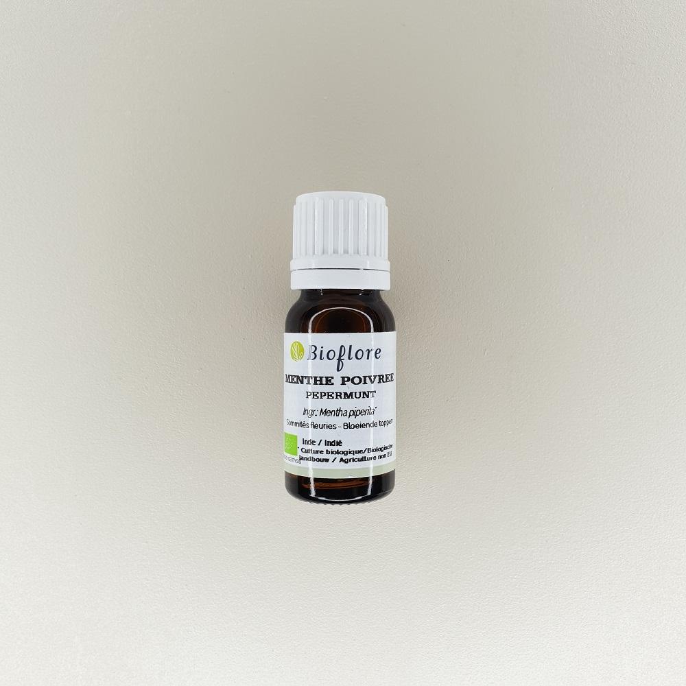 huile essentielle de menthe poivrée bio 10 ml Bioflore