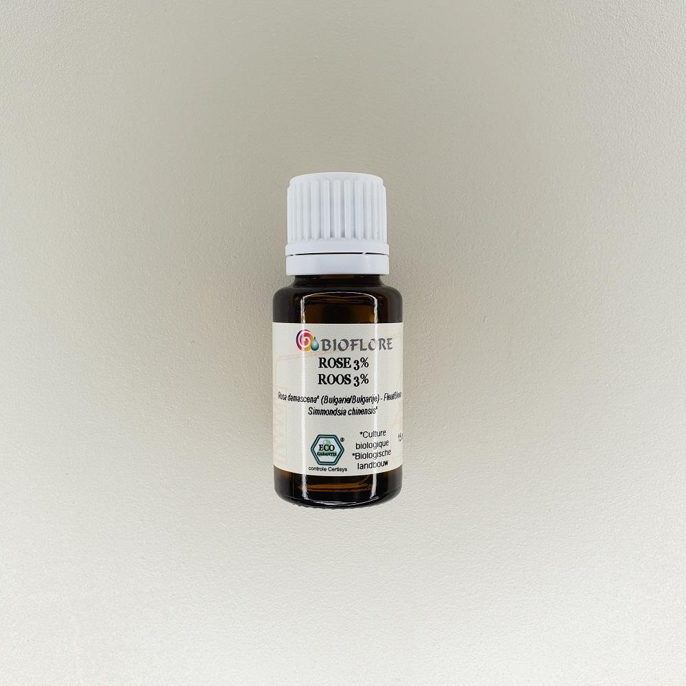 huile essentielle de rose de damas à 3% bio 15 ml Bioflore