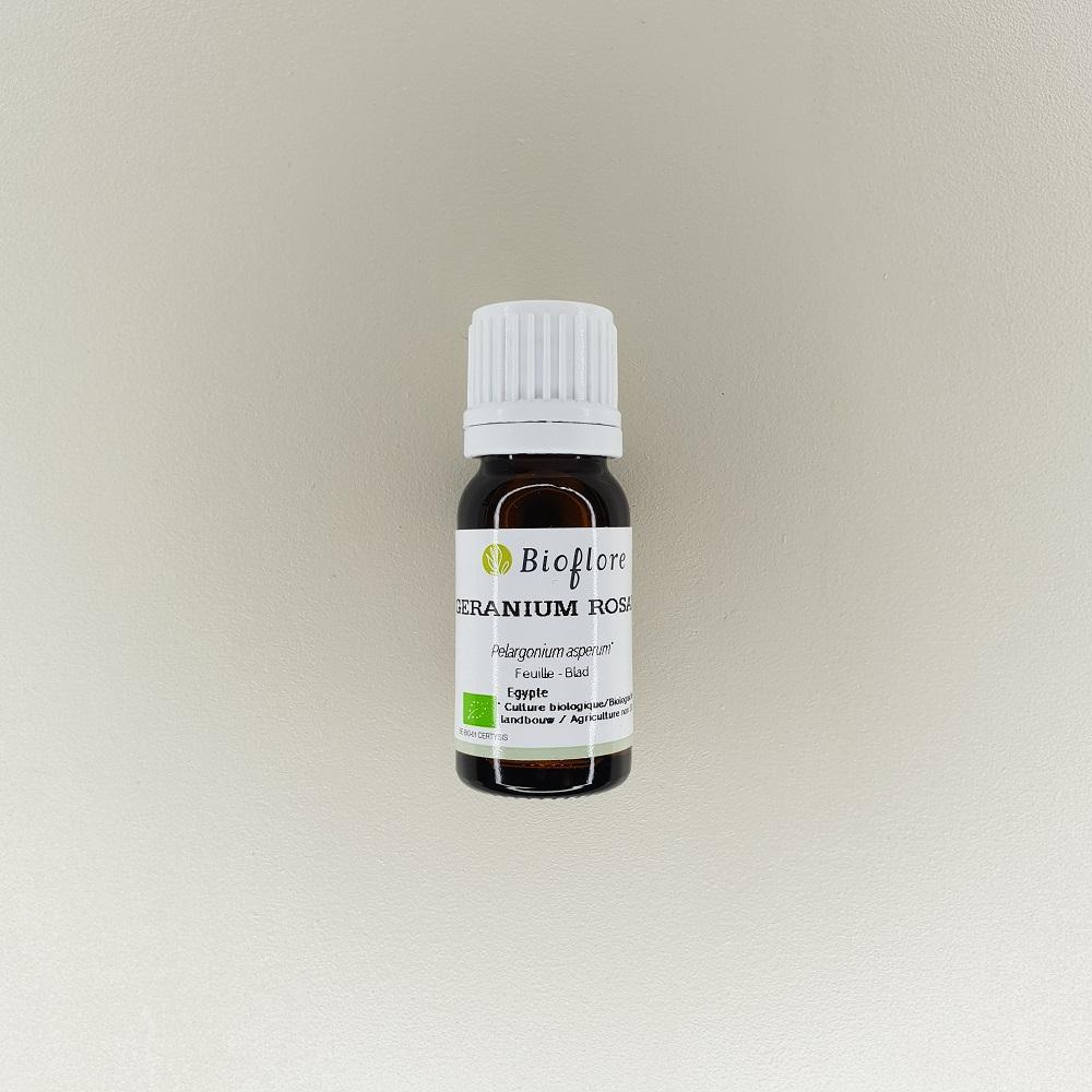 huile essentielle de géranium rosat bio 10 ml Bioflore
