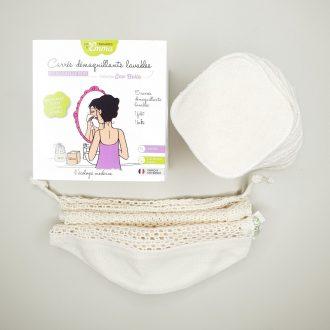 Kit Eco Belle Bois - Carrés démaquillants coton bio