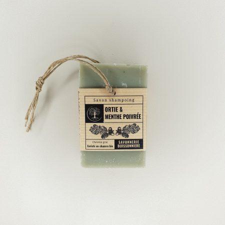 Savon shampoing Ortie & Menthe poivrée La savonnerie buissonnière