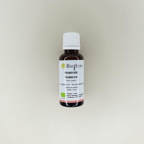 Huile végétale de Framboise Bio Bioflore contenance 30 ml
