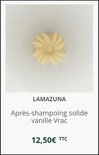après-shampoing solide démêlant Lamazuna