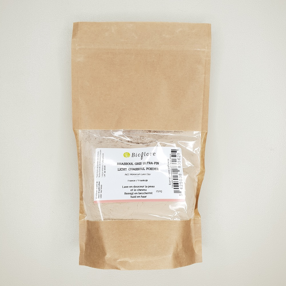 rhassoul gris ultra-fin bioflore sachet de 250 grammes