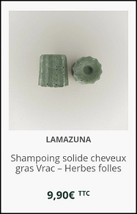 shampoing solide purifiant Herbes Folles Lamazuna