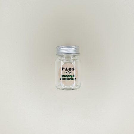 pot pour dentifrice Paos à croquer en verre