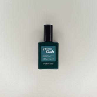 Top Coat Semi-permanent Green Flash