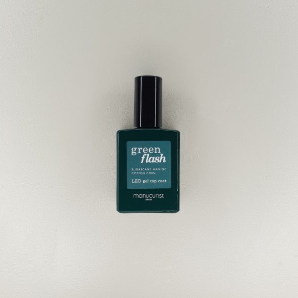 Top coat couche finition semi permanent Green flash manucurist