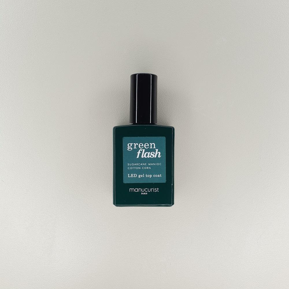 Top coat couche finition semi permanent Green flash manucurist