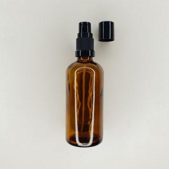 Flacon vaporisateur en verre ambré