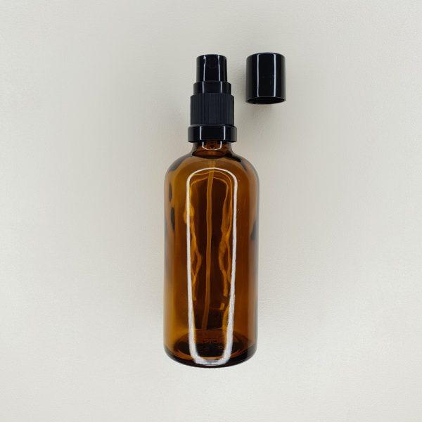 Flacon en verre ambré pompe spray 50 et 100 ml