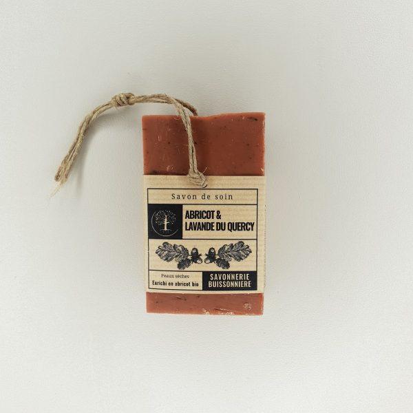 Savon à froid surgras abricot et lavande La savonnerie Buissonnière