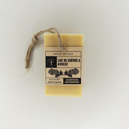 Savon à froid surgras lait de chêvre et avocat La savonnerie Buissonnière