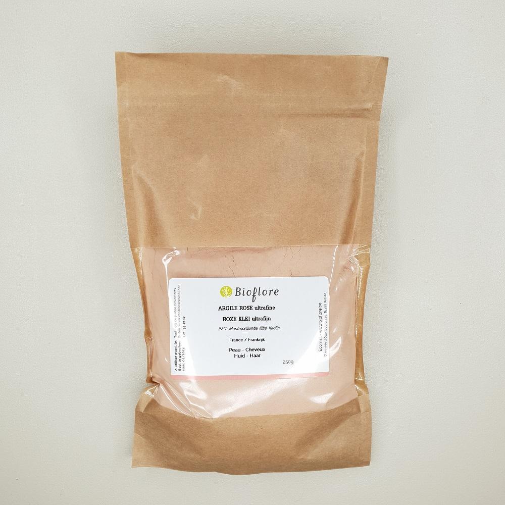 Argile rose Bioflore Ultrafine contenance 250 grammes