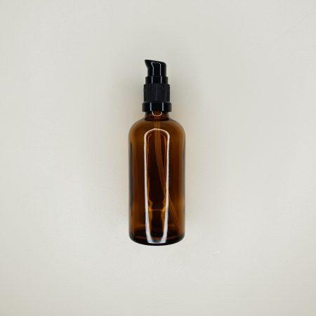 Flacon en verre ambré pompe crème 50 et 100 ml