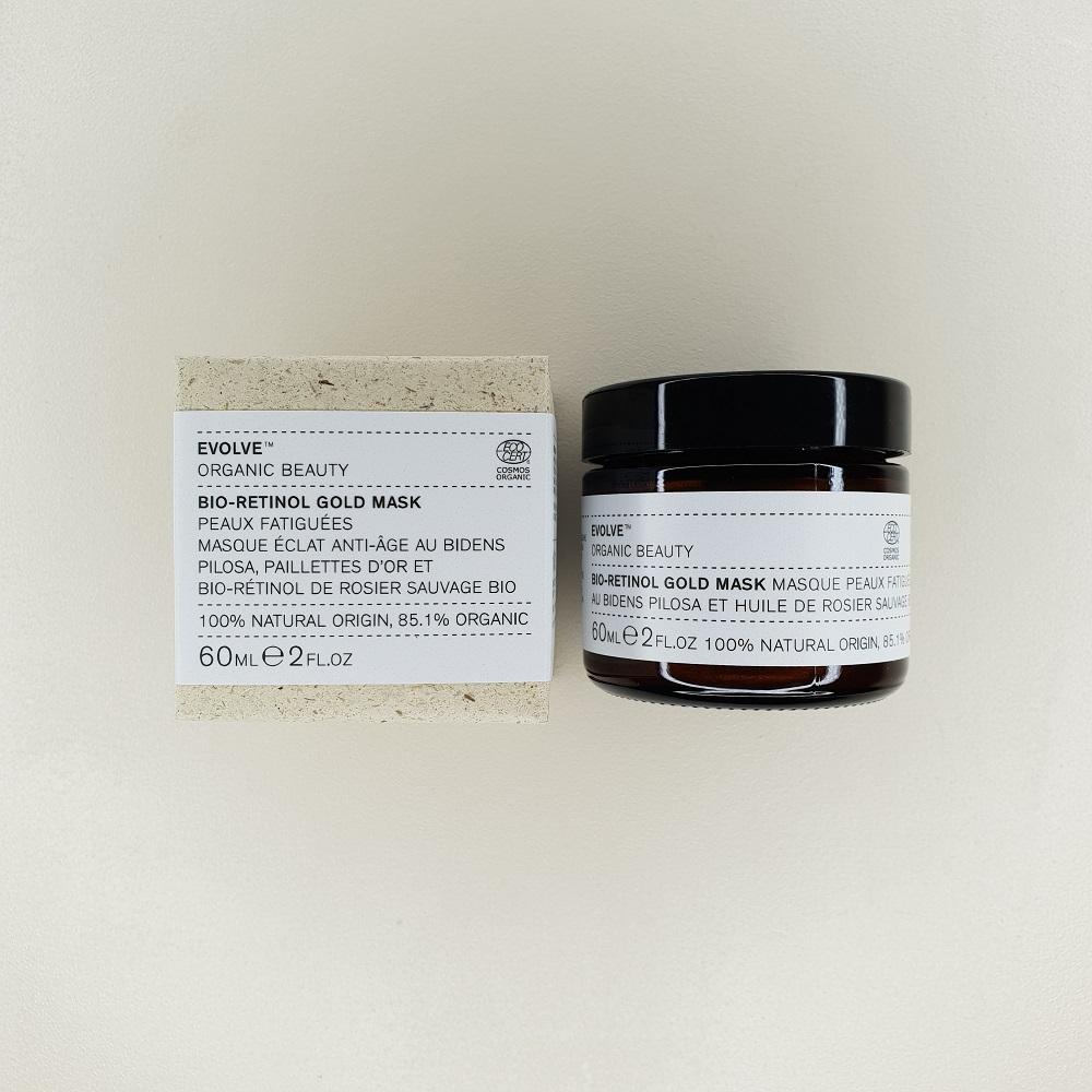 Masque visage bio retinol gold Evolve Beauty 60 ml