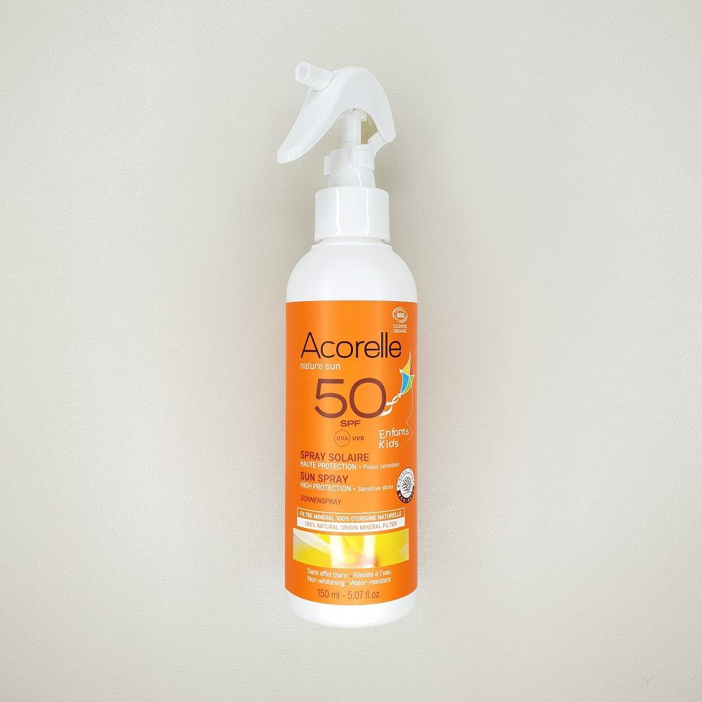 Crème solaire bio indice 50 pour enfant Acorelle 150 ml
