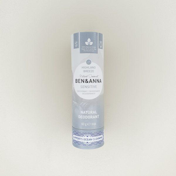 Déodorant highland breeze Ben & Anna solide 60 g