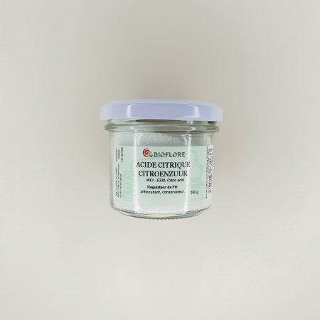 Pot d'acide citrique bioflore pour cosmétique 100 gr