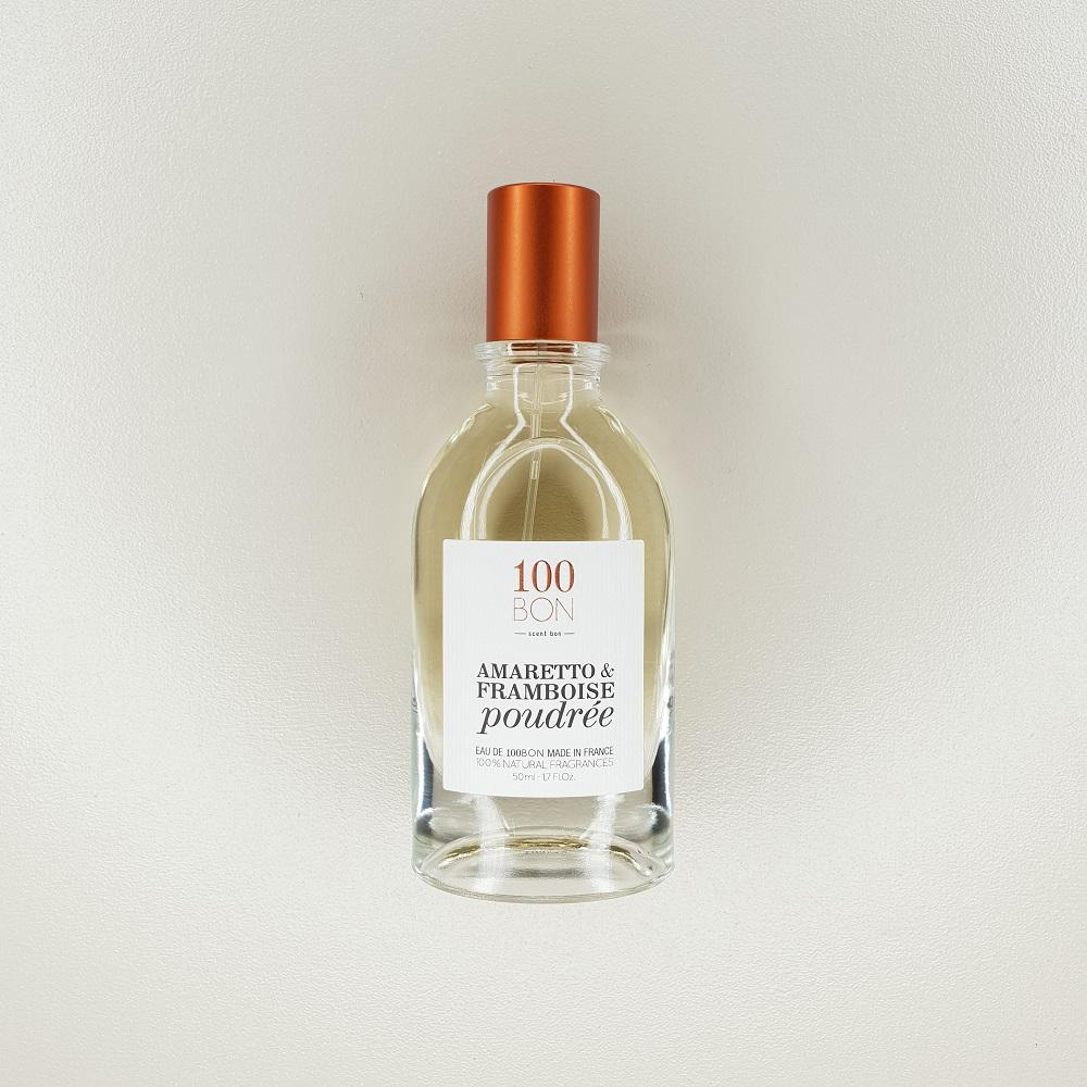 Eau fraiche Amaretto framboise poudrée 100 Bon contenance 50 ml