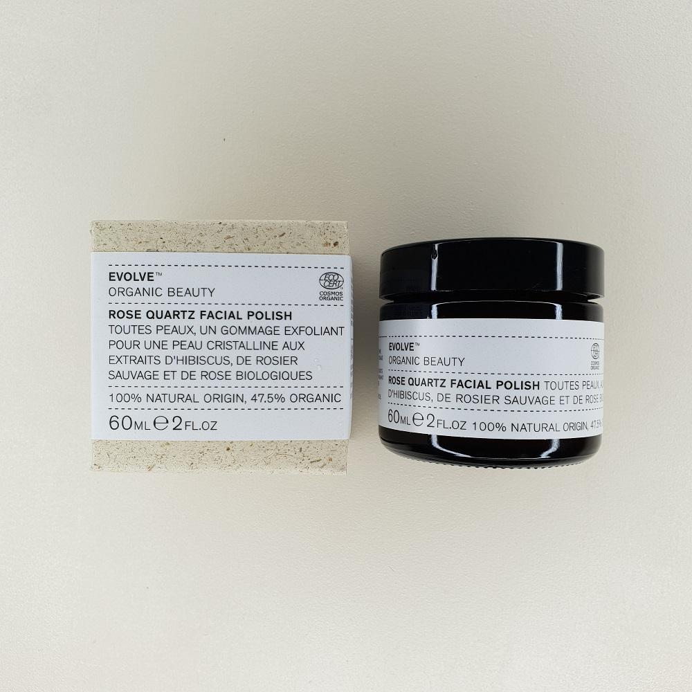 Gommage visage au quartz rose Evolve contenance 60 ml