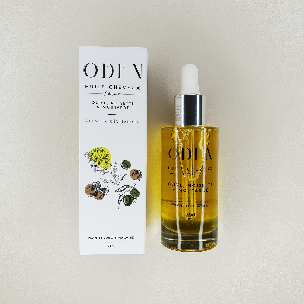 huile cheveux oden olive noisette & moutarde 50 ml