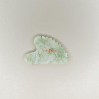 Gua Sha Cœur à dents Jade vert