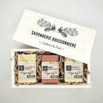 coffret en bois + 3 savons Savonnerie Buissonnière
